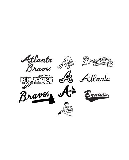 atlanta braves svg dxf and eps cutting files silhouette vinyl cut
