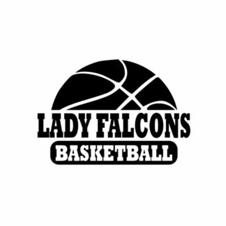 Lady Falcons Basketball svg, Falcons svg, Falcons svg cricut, cutting file, svg, dxf, eps, Cricut Design Space, Cameo Silhouette Studio