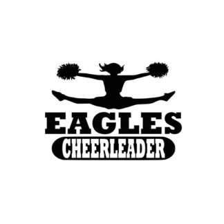 Eagles Cheerleader svg, Cheerleader svg, Cheer svg, Cheer Images cut file include one .zip file with Svg, Dxf, Eps, Jpeg Files