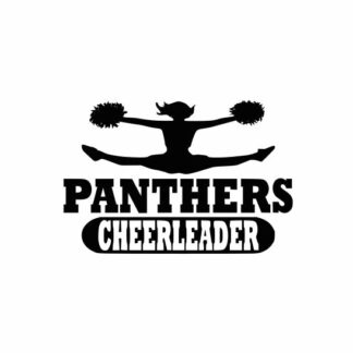 Panthers Cheerleader svg, Cheerleader svg, Cheer svg, Cheer Images cut file include one zip file with Svg, Dxf, Eps, Jpeg Files
