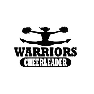 Warriors Cheerleader svg, Cheerleader svg, Cheer svg, Cheer Images cut file include one zip file with Svg, Dxf, Eps, Jpeg Files